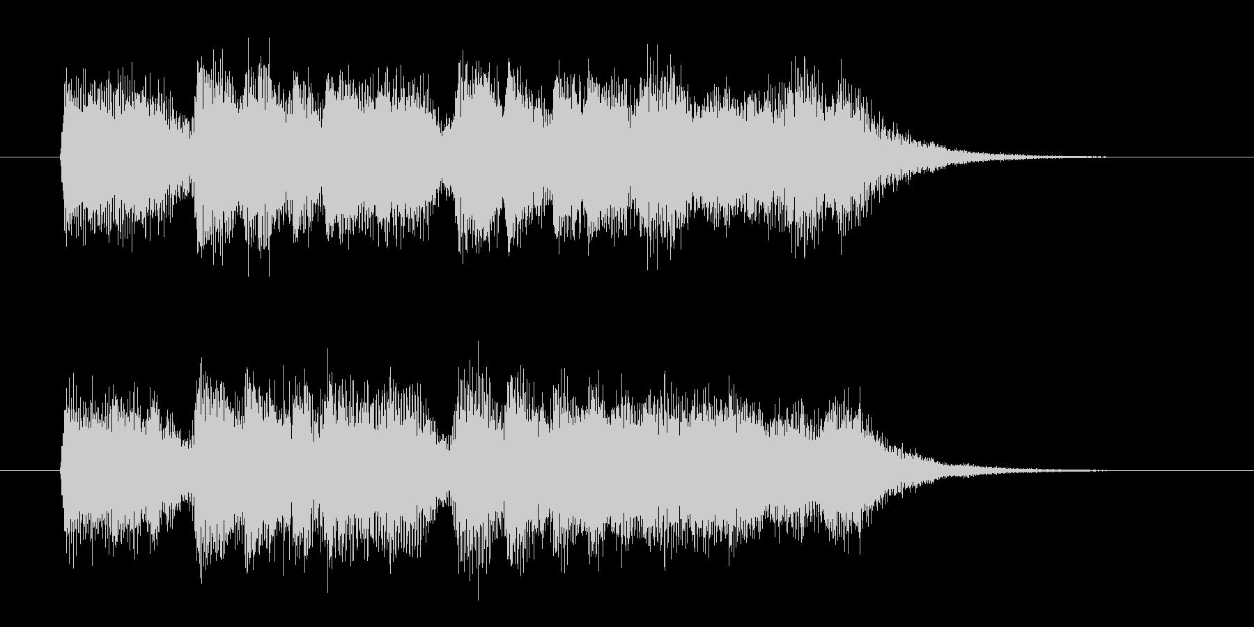 透明感と爽やかなシンセサウンド短めの未再生の波形
