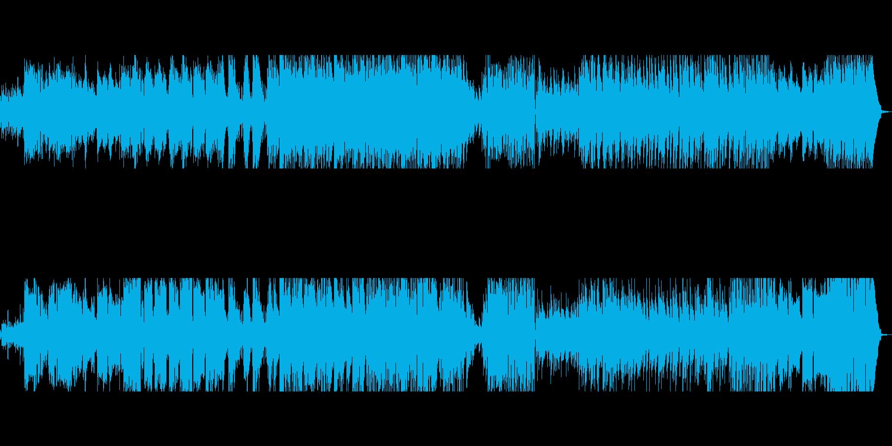 ★シトシト降る雨の滴をイメージしたBGMの再生済みの波形