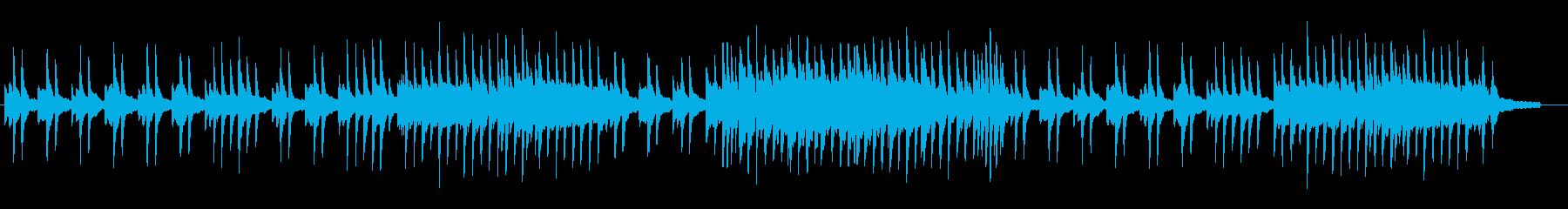 ゆったりとした別れの音楽の再生済みの波形
