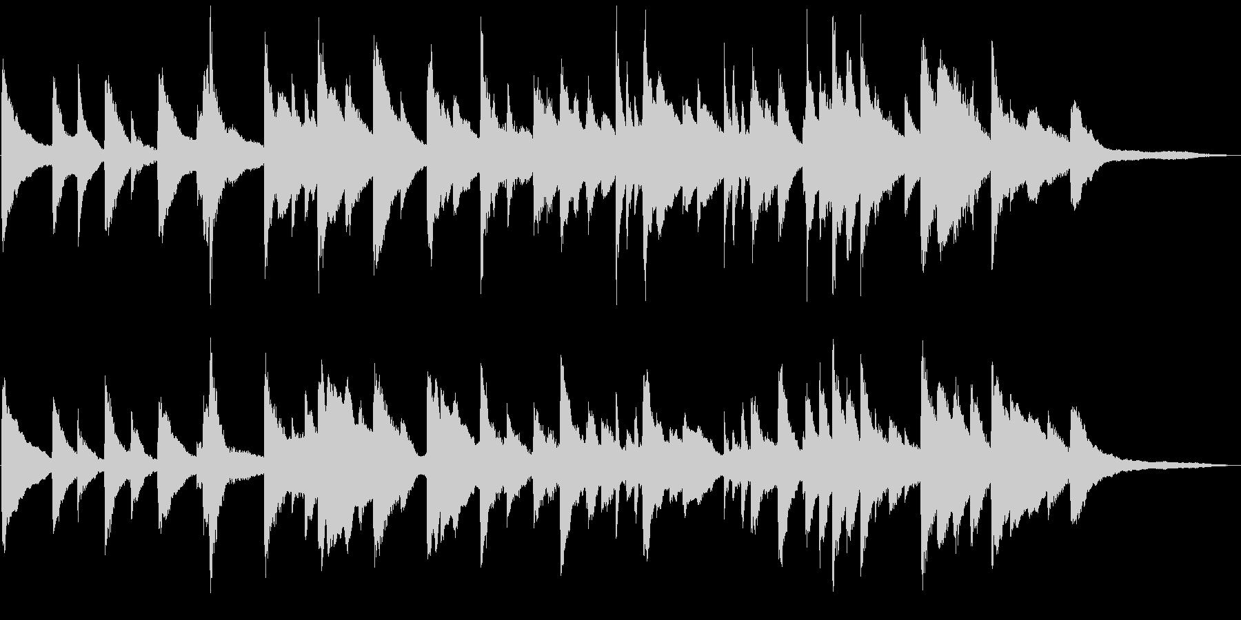 ちょっぴり切ないピアノの小曲の未再生の波形