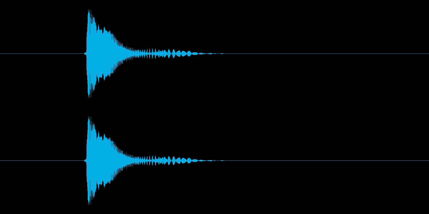 チューン!SF系の発砲音の再生済みの波形