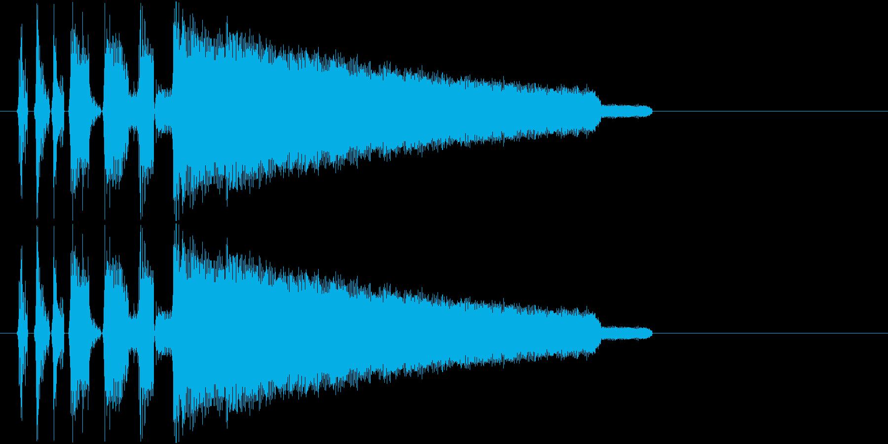 チップチューンのファンファーレジングルの再生済みの波形