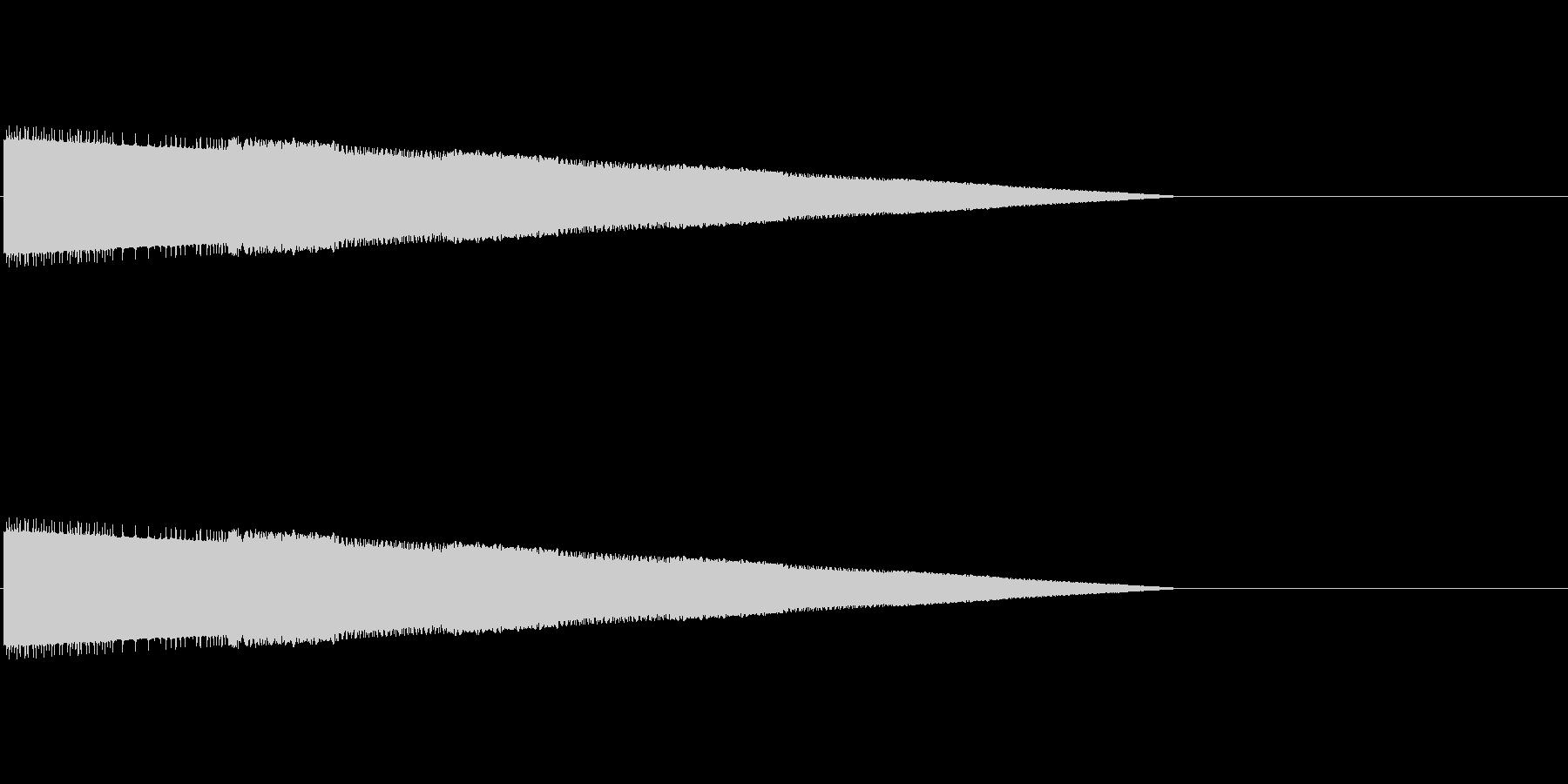 レトロゲーム風ヒット音2の未再生の波形