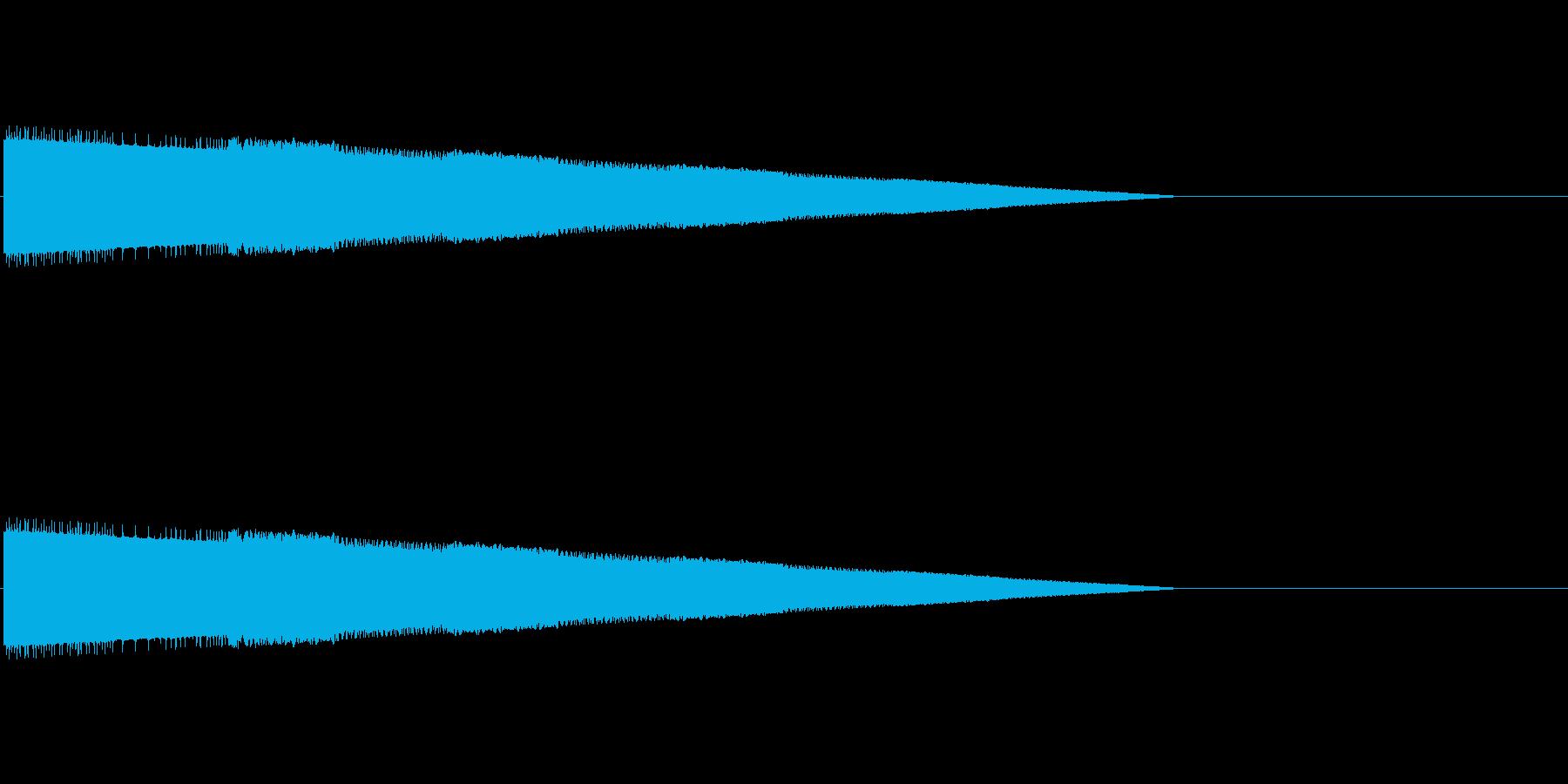 レトロゲーム風ヒット音2の再生済みの波形