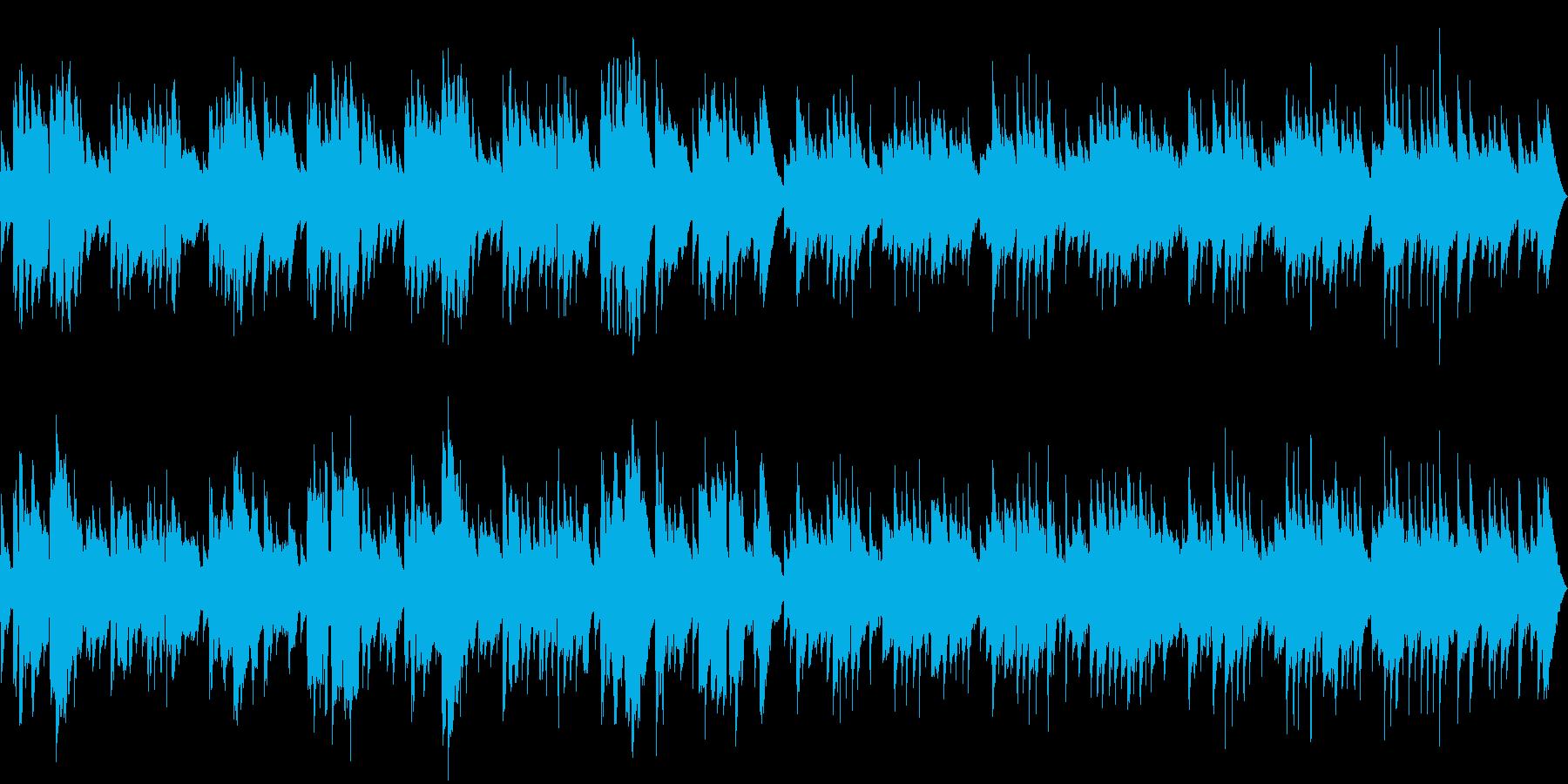 素朴でやすらぐギターとリコーダーのBGMの再生済みの波形