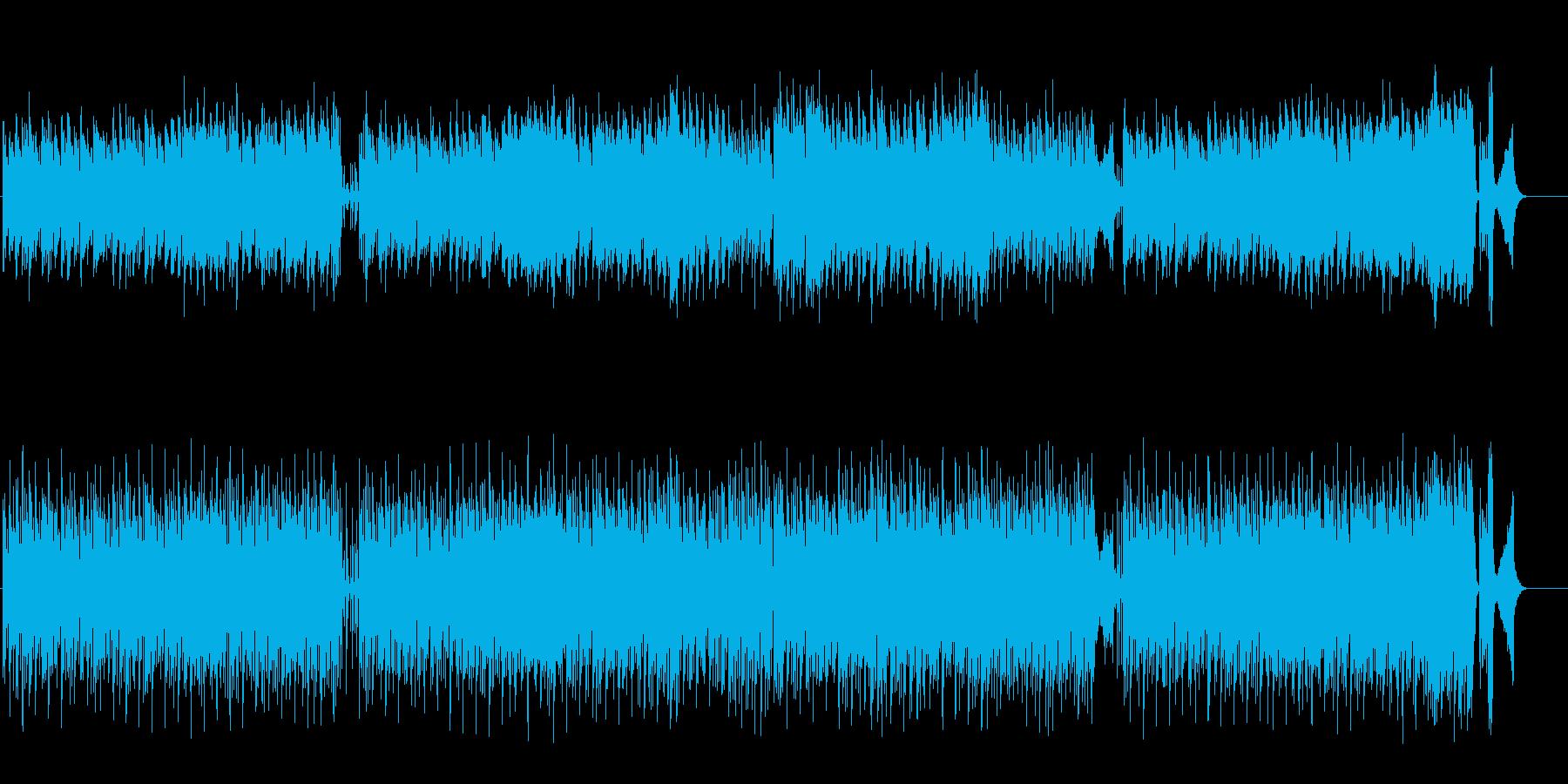 ノスタルジックな欧州円舞曲風の再生済みの波形