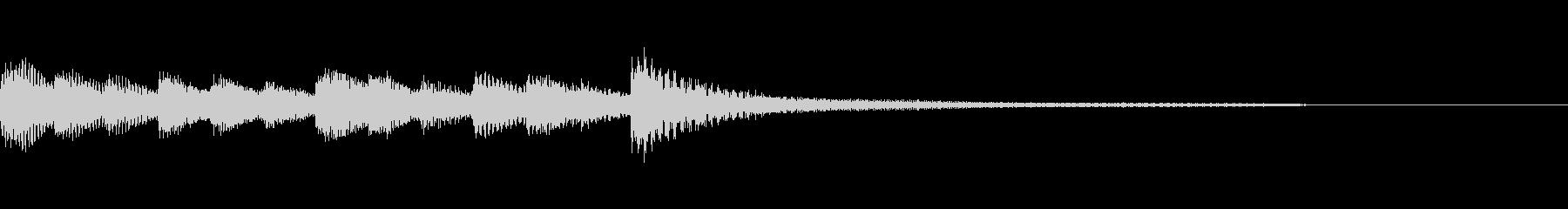 ゆったりしたピアノのジングルの未再生の波形