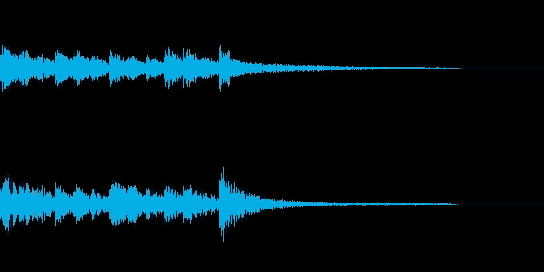 ゆったりしたピアノのジングルの再生済みの波形