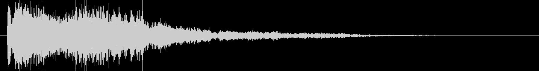 和風クリックジングルアイキャッチ神秘の未再生の波形