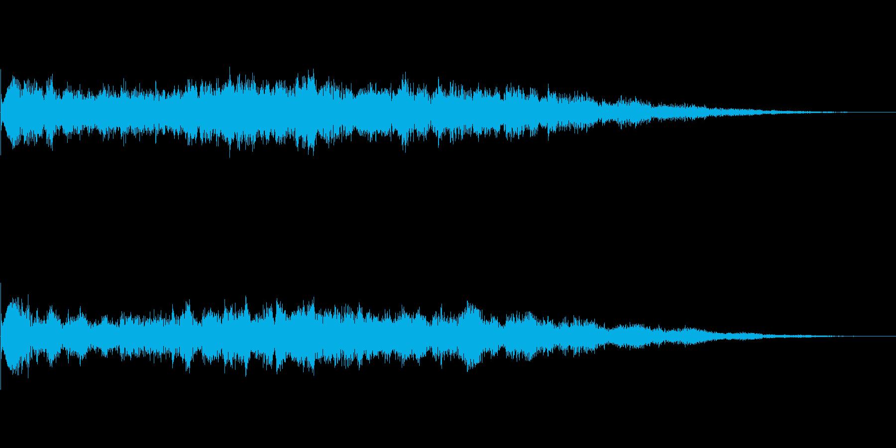 スペーシーなスタート音の再生済みの波形
