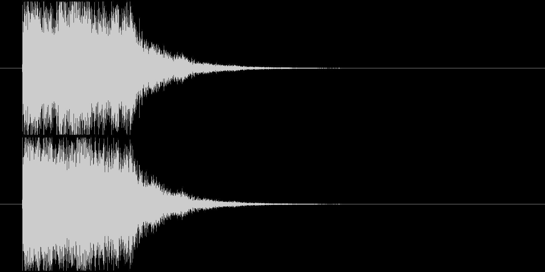 インパクト落下の未再生の波形