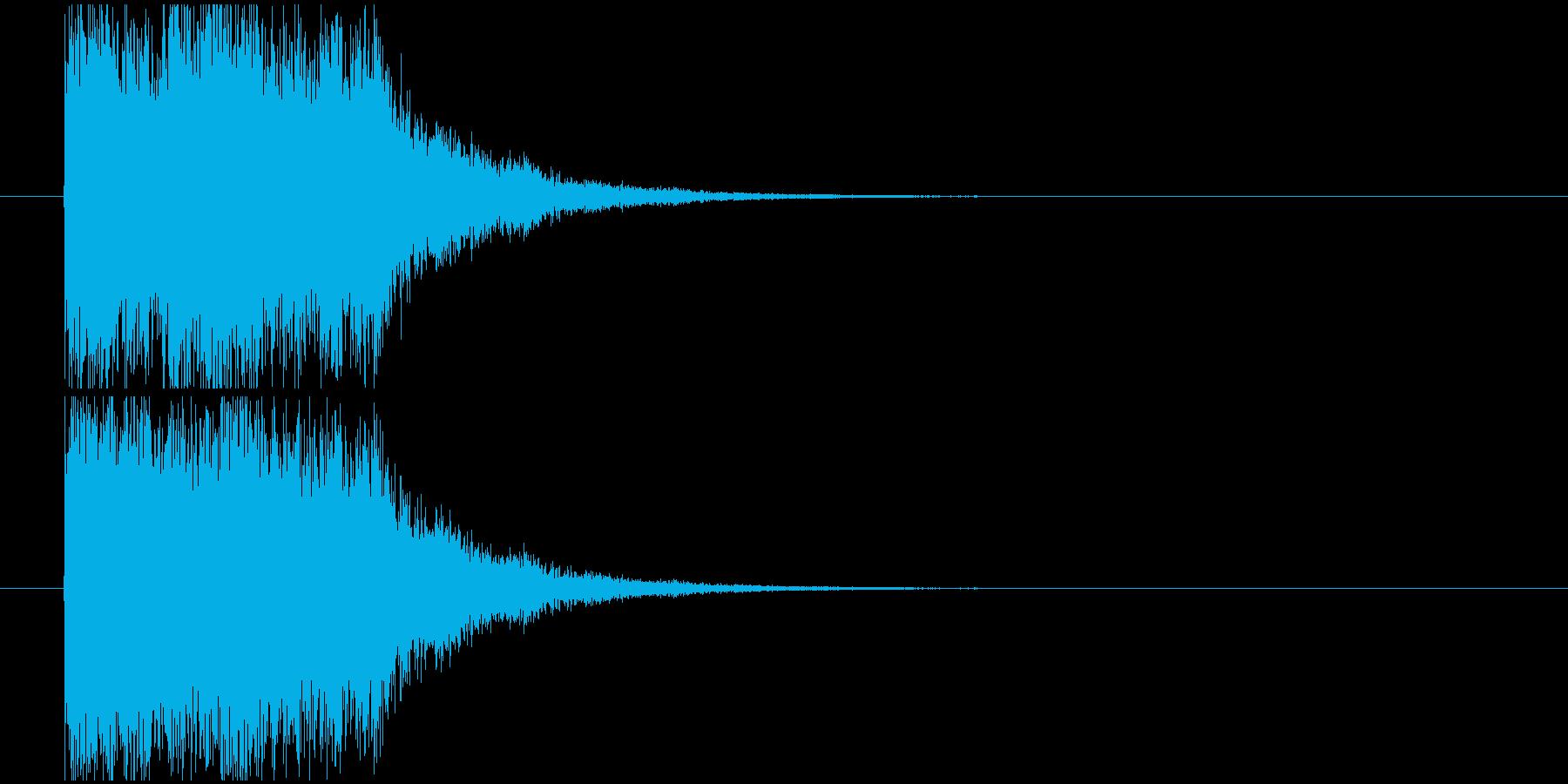インパクト落下の再生済みの波形