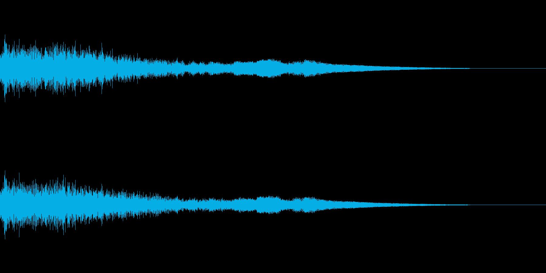[ヒューン]キャラ死亡・失敗(コミカル)の再生済みの波形