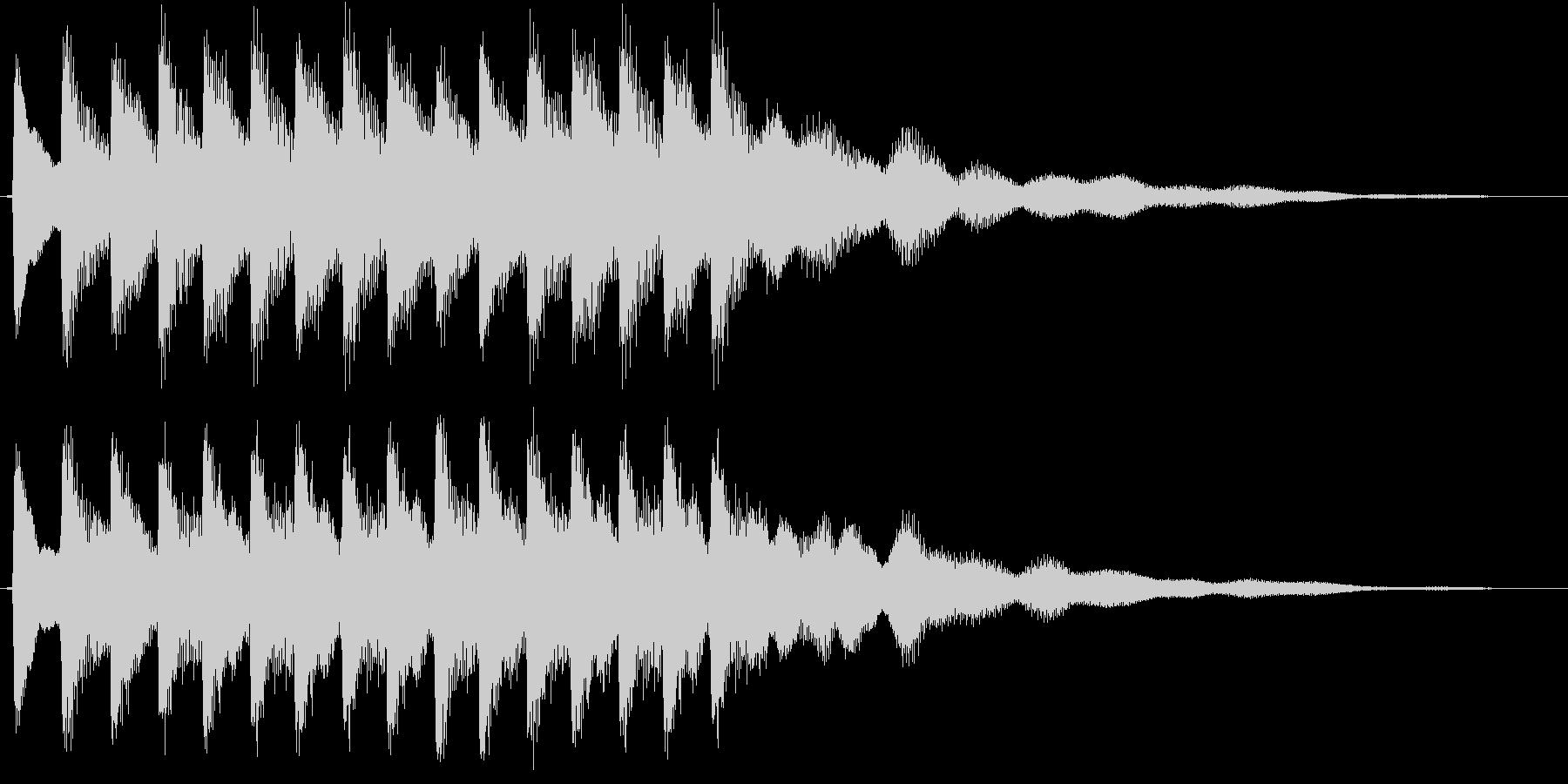 ティロリロリロリロ・・・(ベル)の未再生の波形