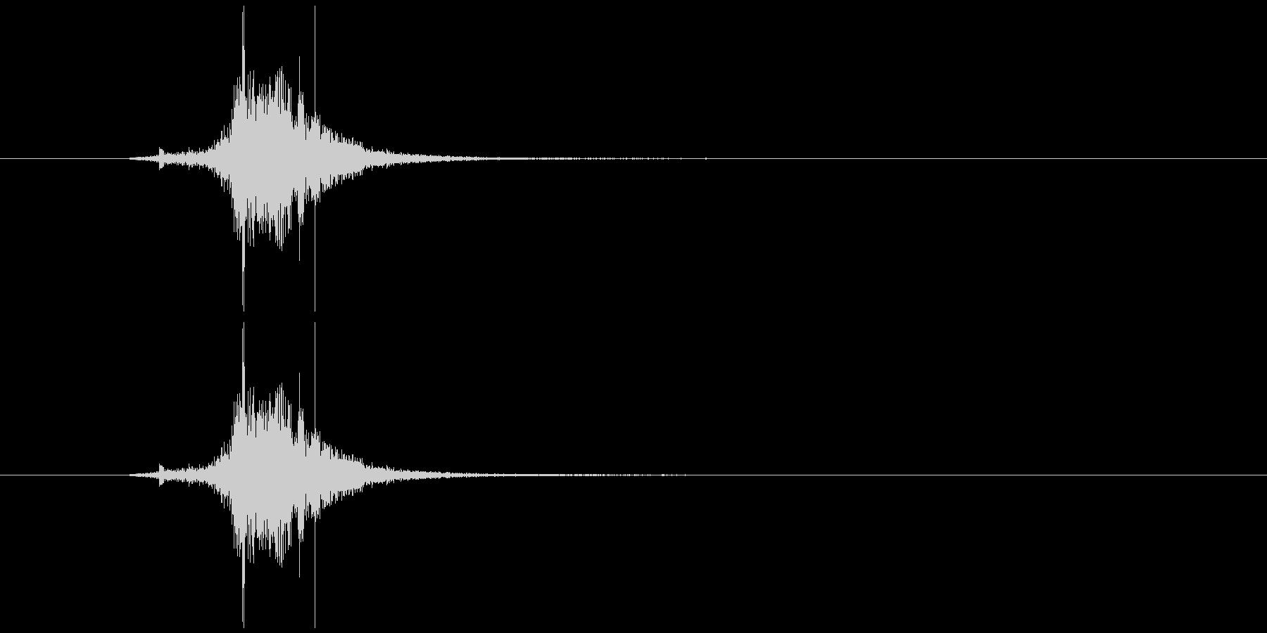 素振り1、スイングする音の未再生の波形