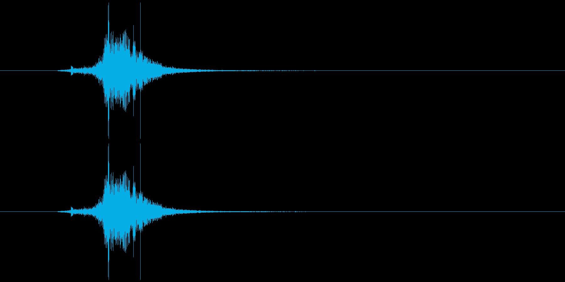 素振り1、スイングする音の再生済みの波形