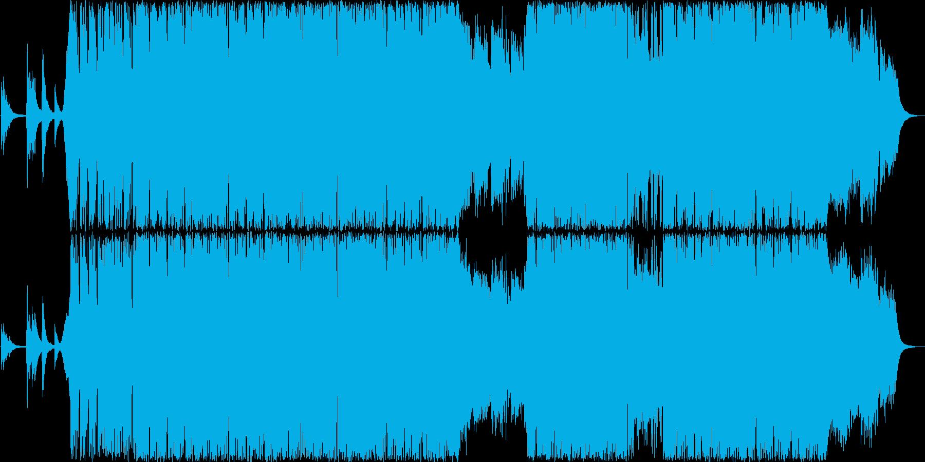 カッコイイギターインストゥルメンタルの再生済みの波形