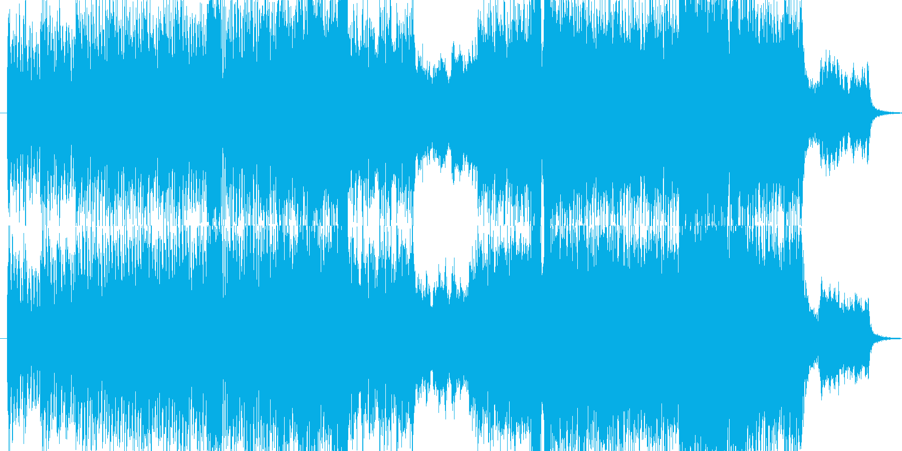切ない旋律のオーケストラ調戦闘曲の再生済みの波形