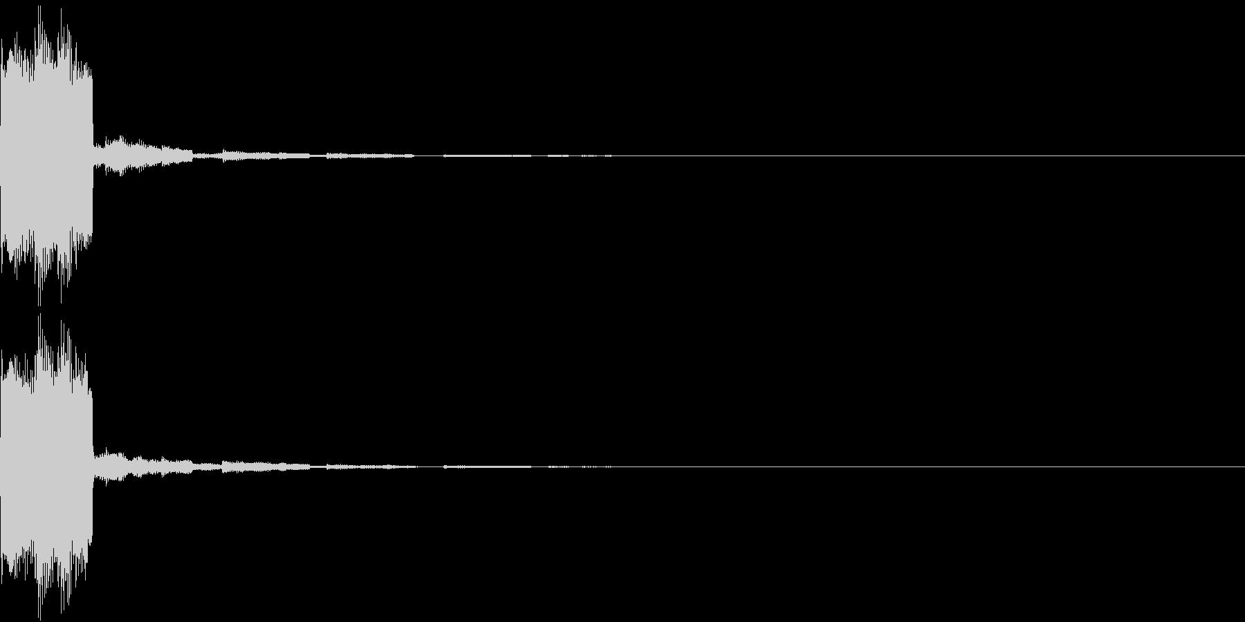 クリック キラリン 正解 決定 16の未再生の波形