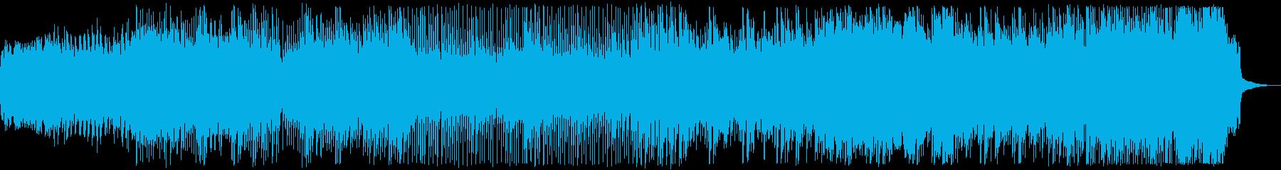 和風テイストの曲の再生済みの波形