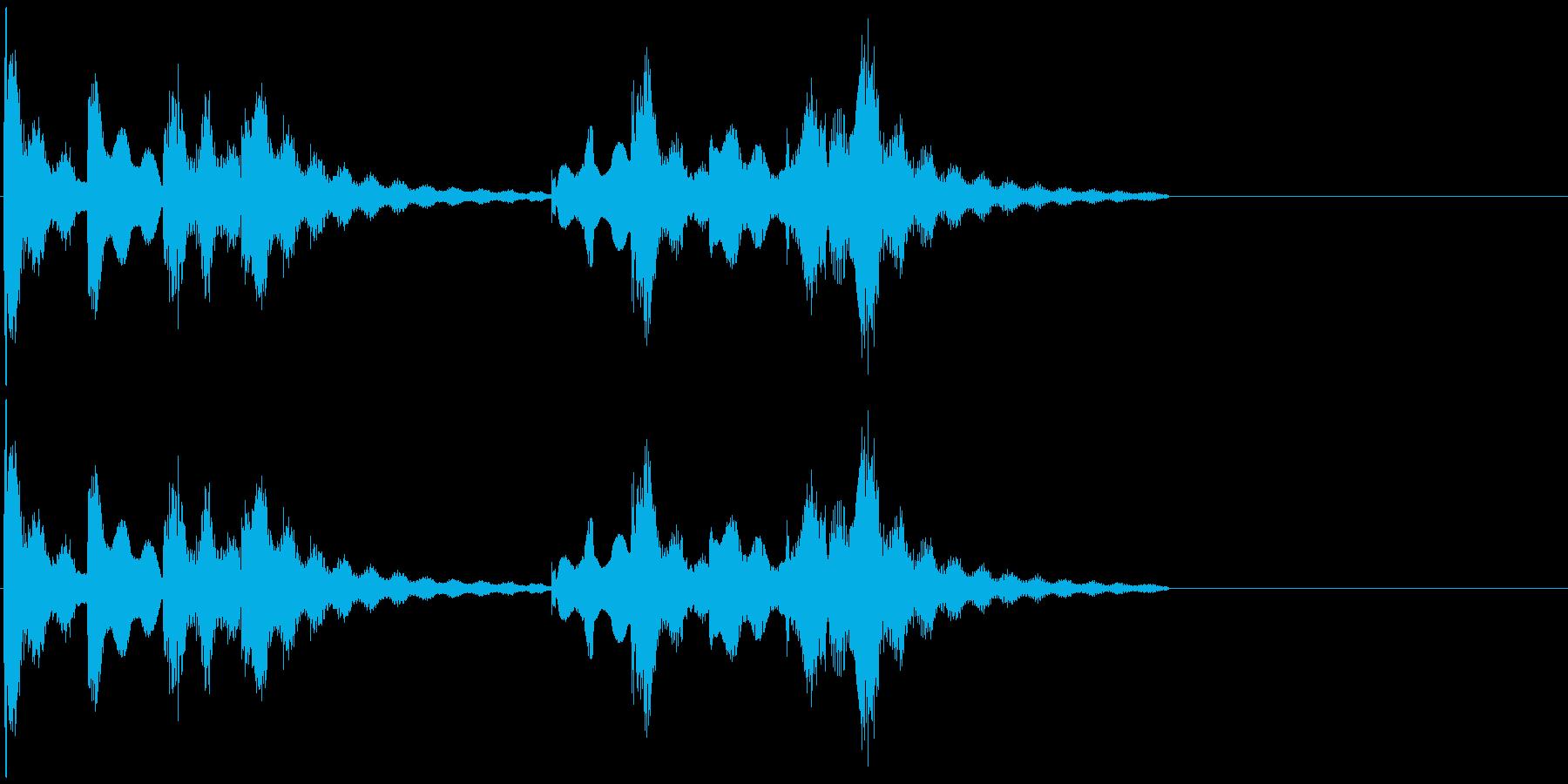 大人な雰囲気のジングル向けBGMの再生済みの波形