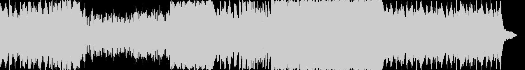 パワフルなミステリアスBGMの未再生の波形