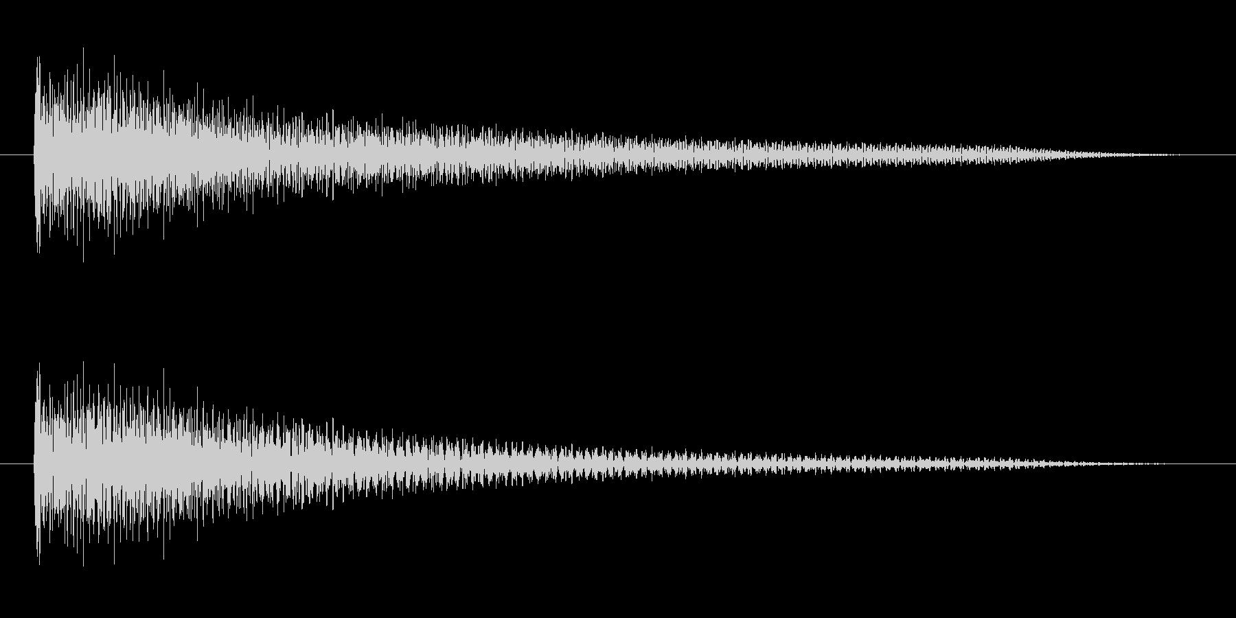 よくあるチャイム音風(オルゴール)の未再生の波形