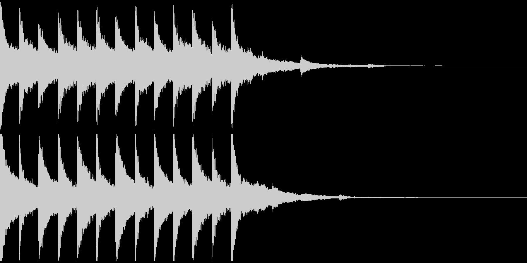 サウンドロゴ、ゴージャス感、verEの未再生の波形
