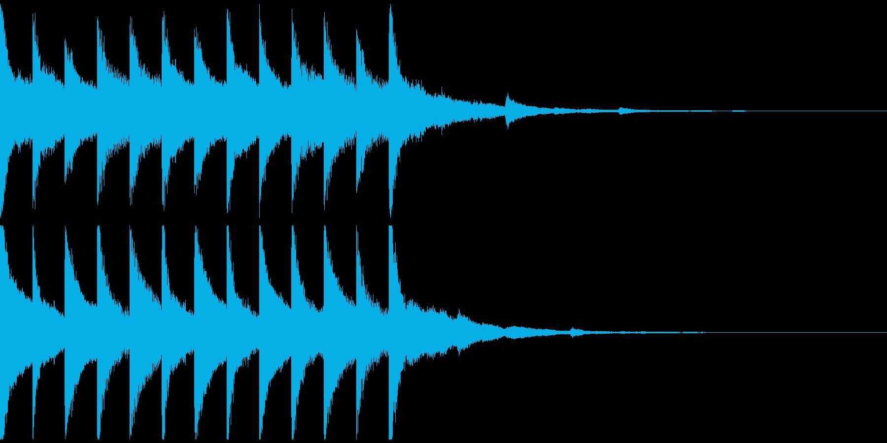 サウンドロゴ、ゴージャス感、verEの再生済みの波形