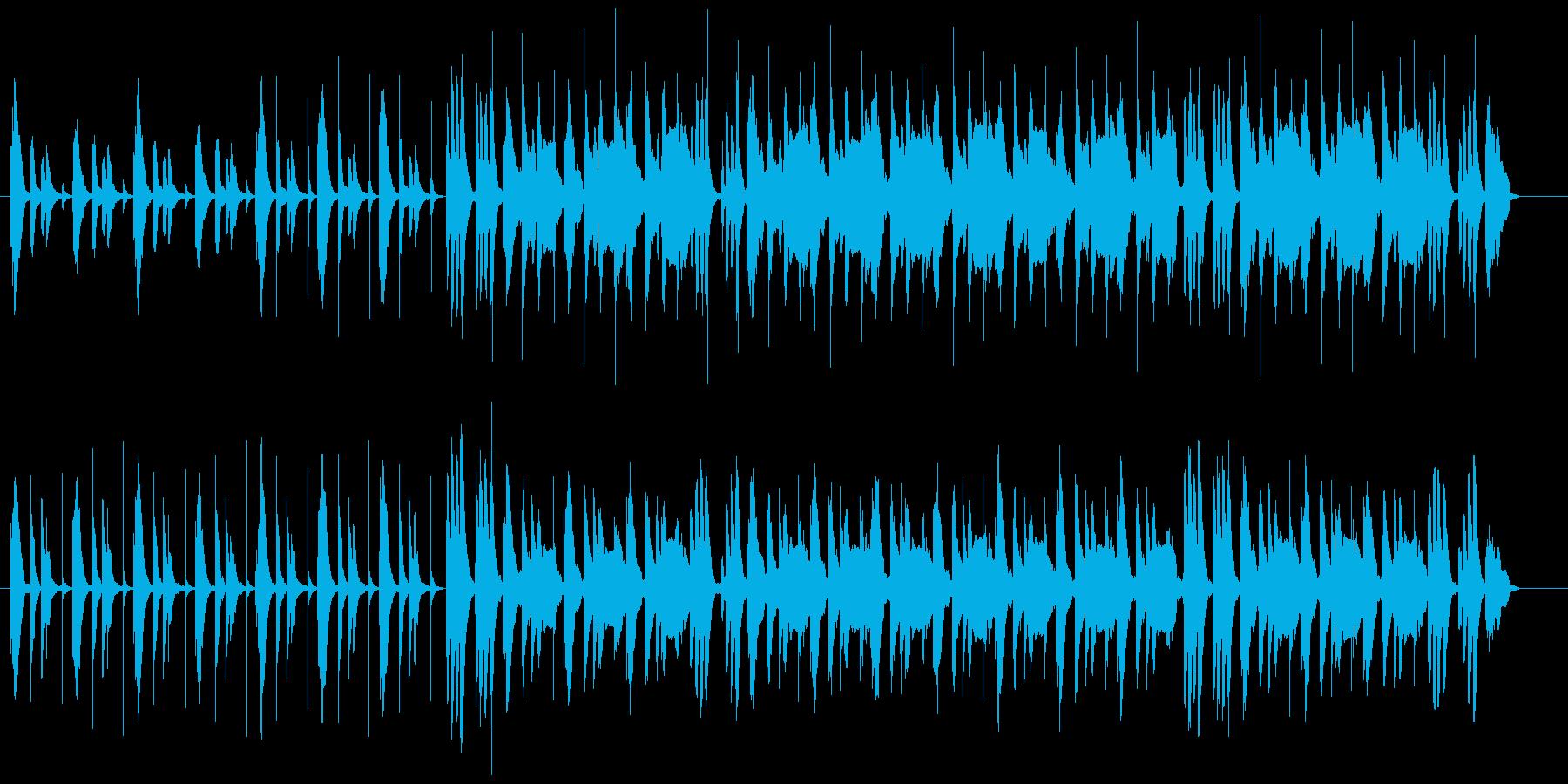 右から左から何やら出て来そうな、キョロ…の再生済みの波形