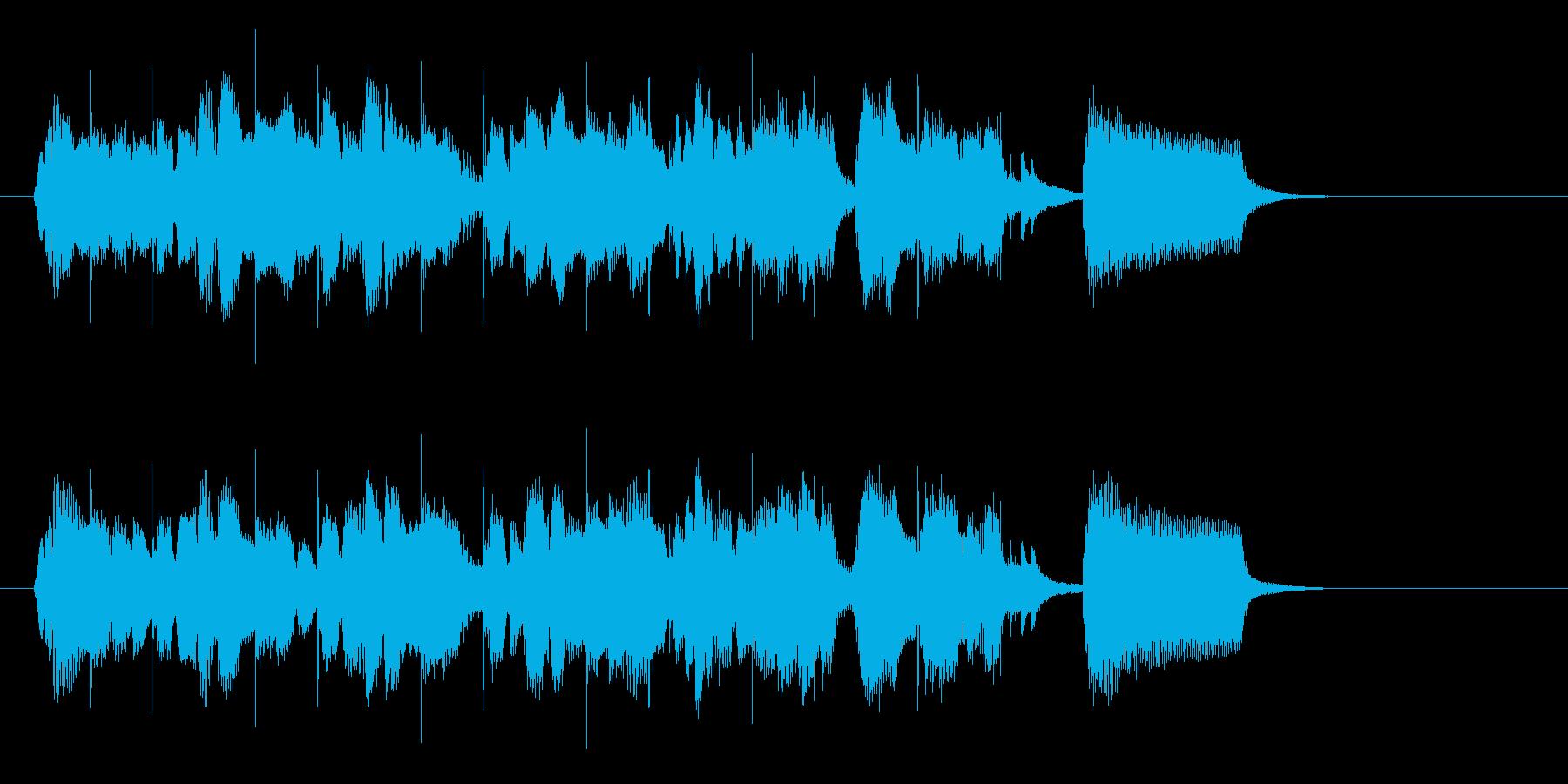 軽快なボサノバジングルの再生済みの波形