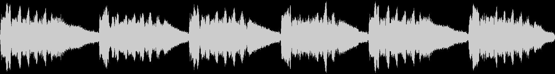 ミンミンゼミの鳴き声(近距離、一匹のみ)の未再生の波形