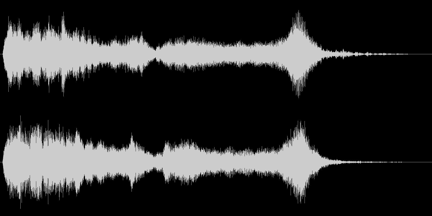 怪しげなファンファーレ 金管のみの未再生の波形