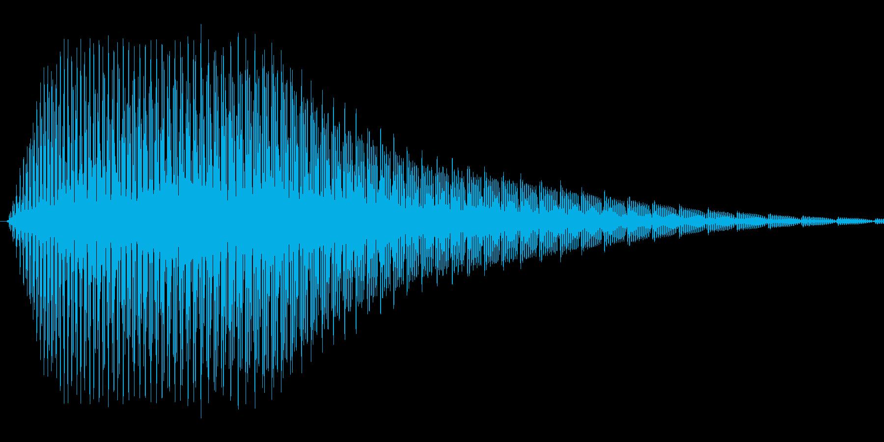 汎用的なシステム音(ピャッの再生済みの波形