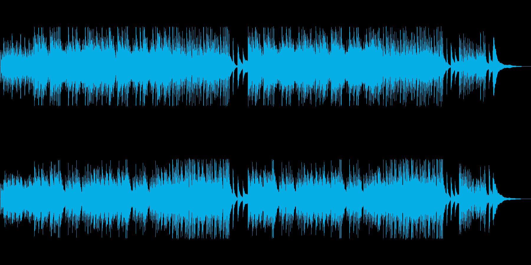 穏やかなクラシック風ハープの再生済みの波形
