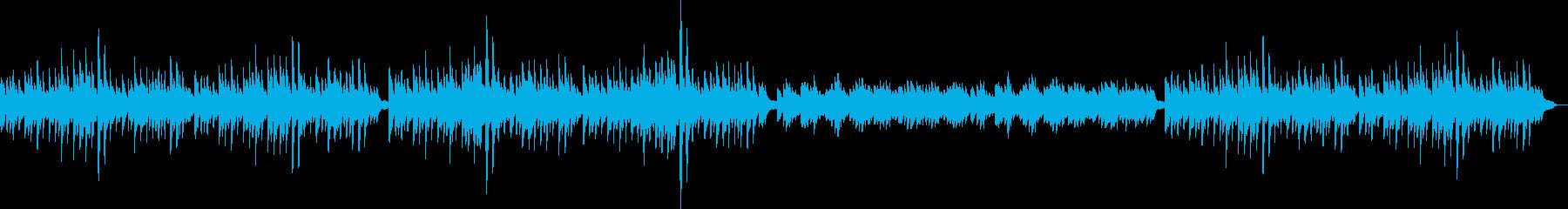 静かで可愛らしい音色のリラクゼーションの再生済みの波形