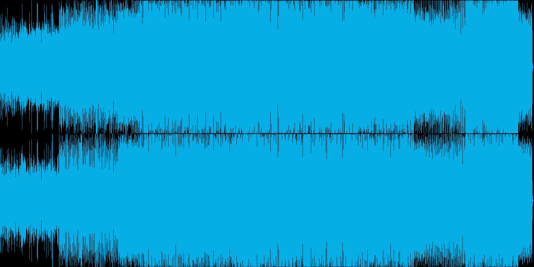 軽快なドラムンベースの再生済みの波形