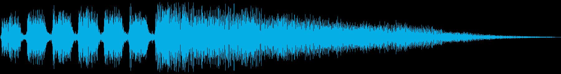 シンセ(ヒット系)ジングルの再生済みの波形