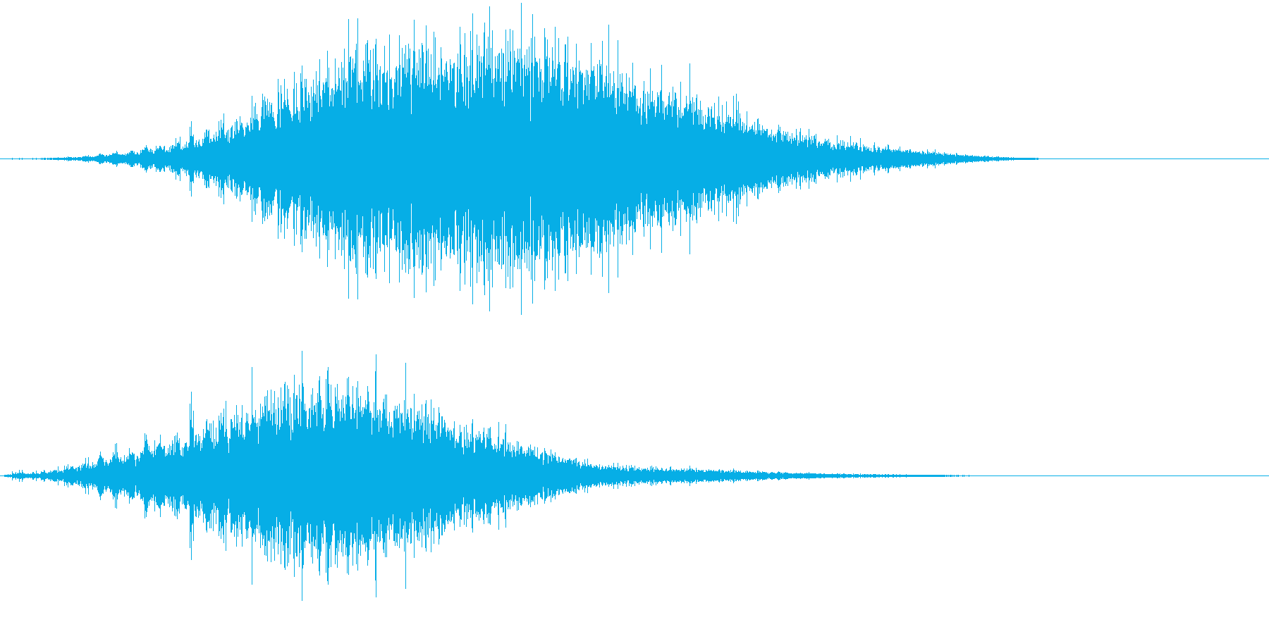 音侍SE「フルフル〜」軽快な振り鈴R-Lの再生済みの波形