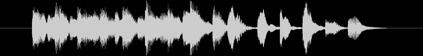 明るくほのぼのとしたピアノのジングルの未再生の波形