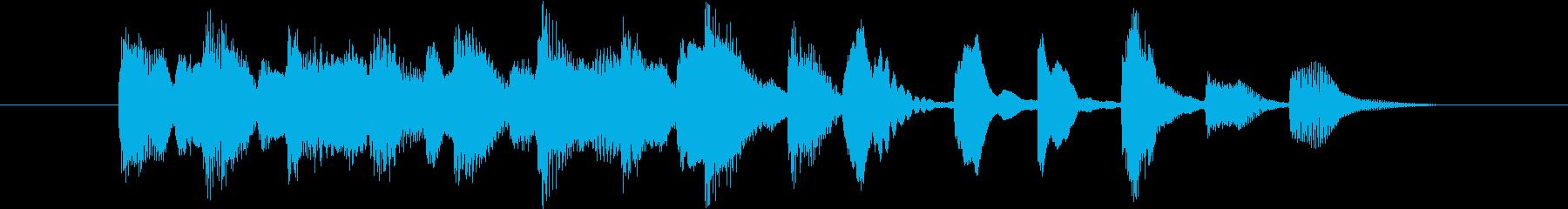 明るくほのぼのとしたピアノのジングルの再生済みの波形