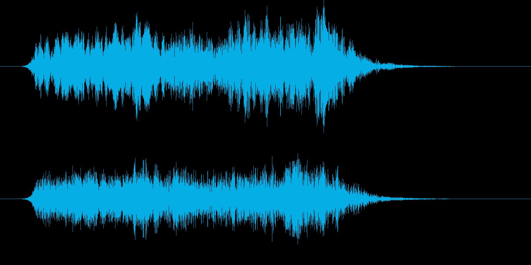 スペーシーなサウンドロゴの再生済みの波形