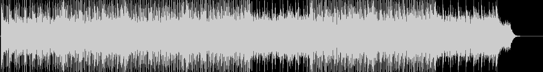 軽快で明るいハウステイストのBGMの未再生の波形