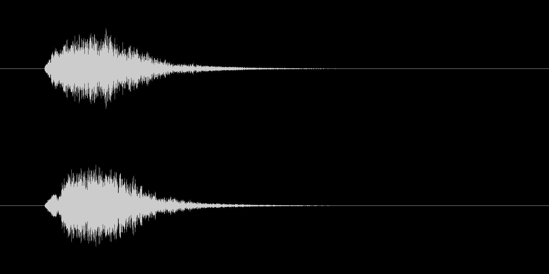 ぞっとする着信音の未再生の波形