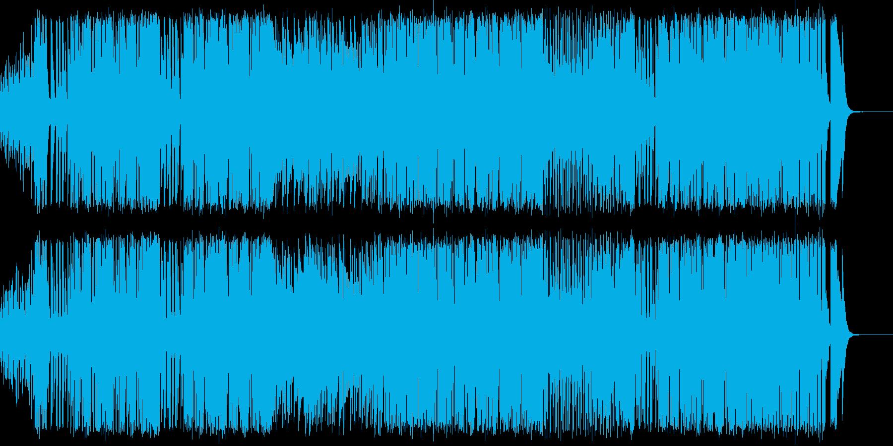 篠笛の旋律にブラスがからむ和風ファンクの再生済みの波形