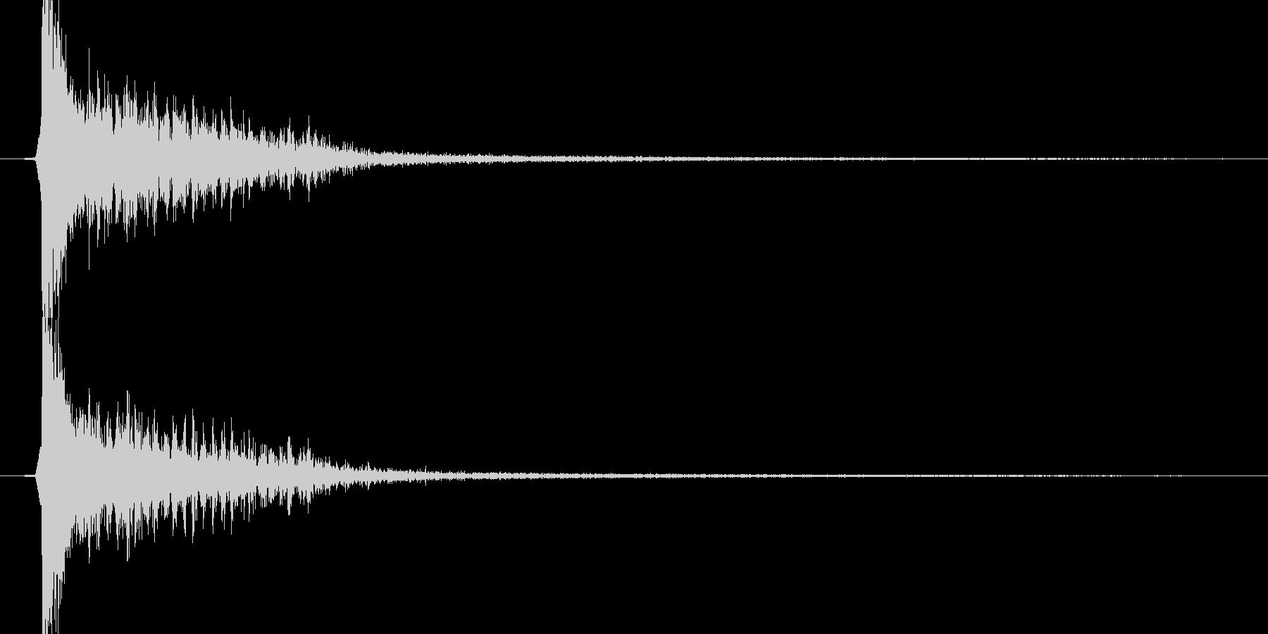時代劇演出音(カアアッ テイク2)の未再生の波形