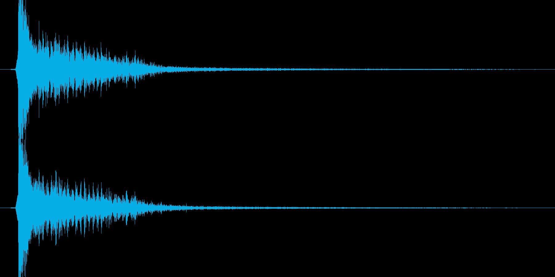 時代劇演出音(カアアッ テイク2)の再生済みの波形