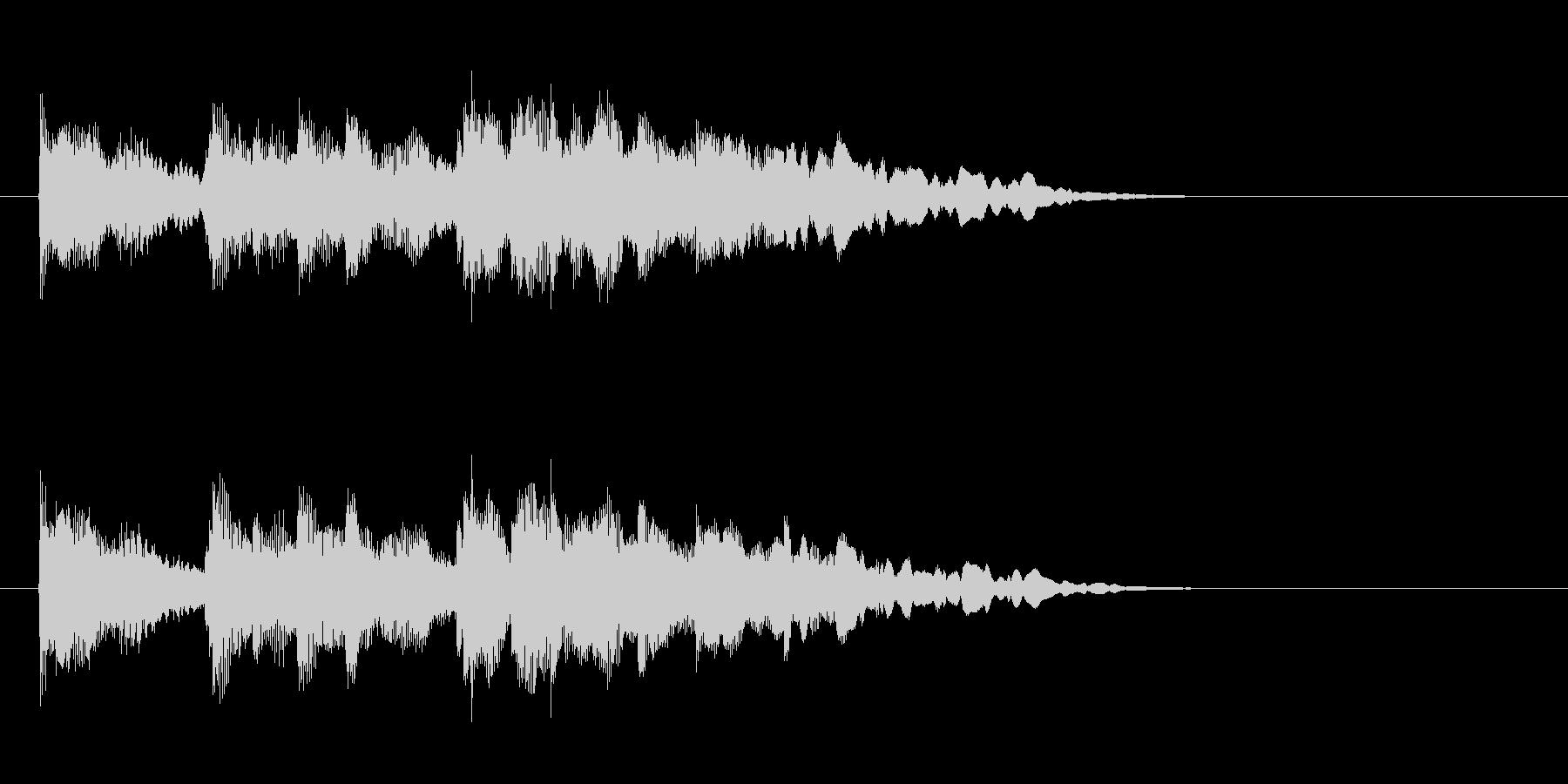 ジングル(おだやかな場面転換風)の未再生の波形