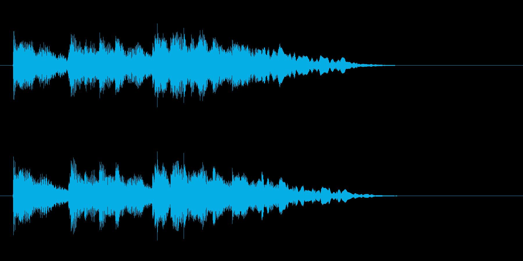 ジングル(おだやかな場面転換風)の再生済みの波形
