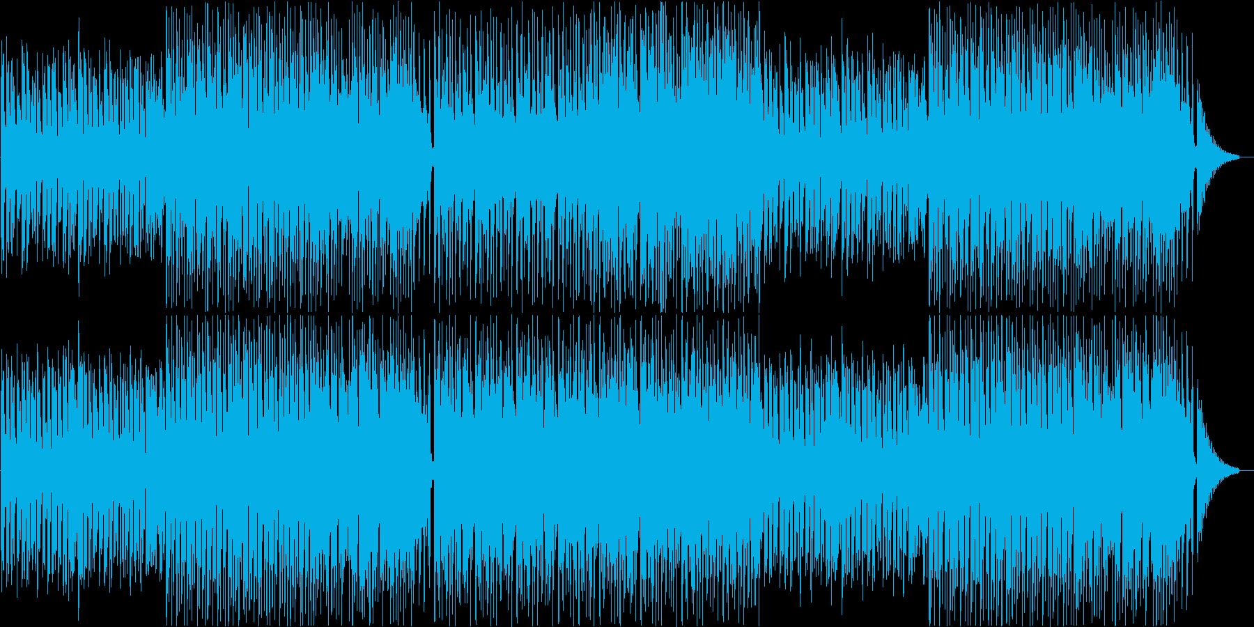 穏やかで優しいチルアウトミュージックの再生済みの波形